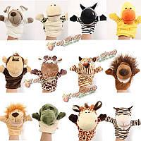 Милые куклы мультфильм животных дети лайковые перчатки рука кукольный пальцы велюр мягкий плюш говоря рассказы игрушки