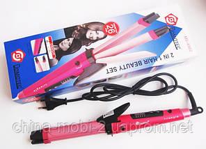 Плойка-утюжок для волос Domotec MS-4982 - 2в1, фото 3