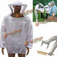 4шт пчеловод инструменты оборудование apicoltore костюм перчатки улей рамки держателя щетки