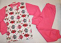 Пижама на девочку 100 % хлопок 6,8 лет