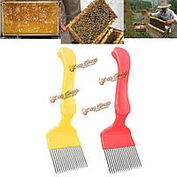 Из нержавеющей стали соты пчеловодство зубцы вилки распечатывания инструмент улей