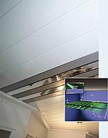 Реечный подвесной потолок закрытого типа