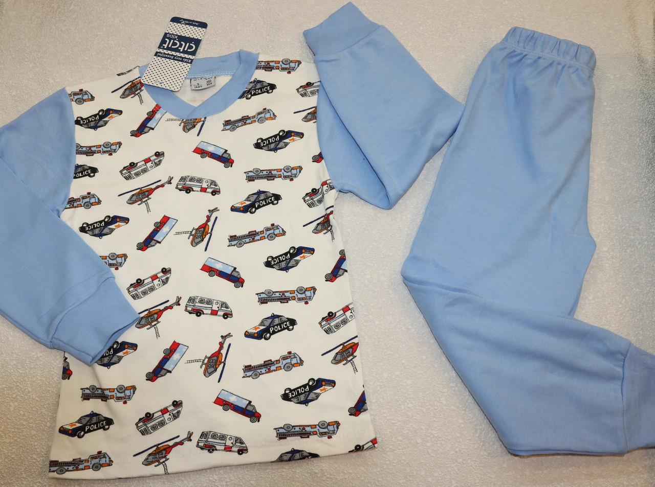 Пижама на мальчика с полицией  100 % хлопок 5,6,7,8 лет