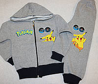 """Теплый костюм на мальчика """"Покемоны""""  с начесом 4,5,6,7,8 лет"""