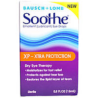 Bausch & Lomb Soothe, XP-Xtra Protection, Emollient (Lubricant) Eye Drops, 0.5 fl oz (15 ml)