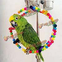 Качели деревянные круглые для волнистого попугая