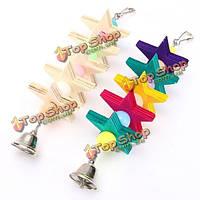 Красочные деревянные кубики блоки звезда птица клетке попугай клетки кусать жевать игрушки игрушки