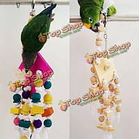 Деревянный канат висит птица попугай клетка жевать игрушки волнистый попугайчик какаду Conure