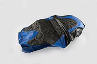 """Чехол сиденья   для мопеда Alpha, CG   (черно-синий, KOSO)   """"SOFT SEAT"""""""