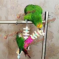 Pet птиц качели игрушки укусов жевать игрушку Красочный попугай клетки Корелла волнистый попугайчик бутафорское