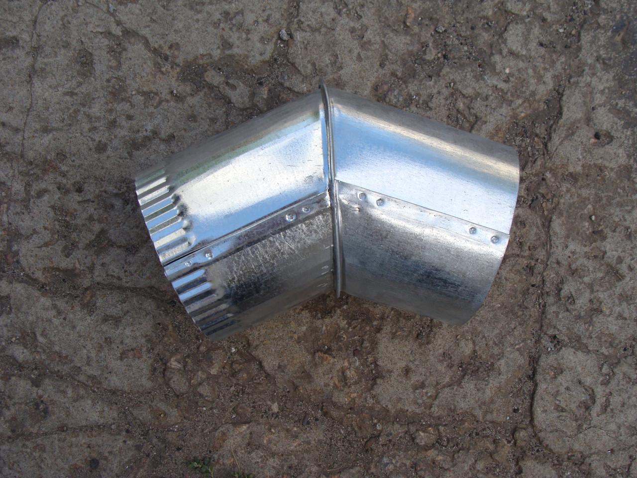 Колено для дымохода оцинкованное (45 градусов), d 110 мм