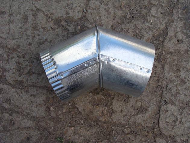 Колено для дымохода оцинкованное (45 градусов), d 110 мм, фото 2