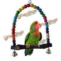 Качели для волнистого попугая