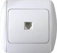 РозеткаE.NEXT e.install.stand.814P1, телефонная одинарная