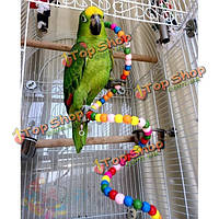 Клеткой для попугая игрушки стоя веревку попугай вращения держателя стойки трапа лестница