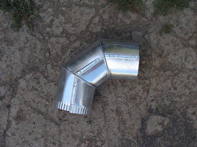 Колено для дымохода оцинкованное (90 градусов), d 110 мм, фото 2