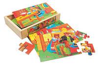 """6 Пазлов в коробке """"Сказка"""" Деревянные развивающие игрушки"""