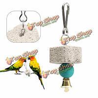 Попугай рот шлифовальный камень клетка игрушка Попугай кореллы игрушка минерал 4см попугай рот шлифовальный камень
