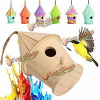 Большой деревянный поделки птица дома скворечник скворечник гнездо дома сад на открытом воздухе висит декор