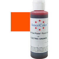 Краситель гелевый AmeriColor (Америколор)  Электрический оранжевый 128 г