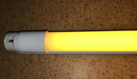 Светодиодная лампа желтая T8 SL-09Y G13 9W 310* 230V Код.58733, фото 2