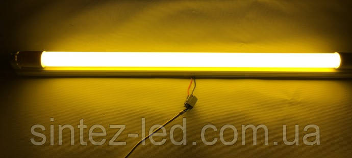 Светодиодная лампа желтая T8 SL-09Y G13 9W 310* 230V Код.58733