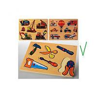 Пазл деревянный Инструменты, ручка