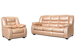 Кожаный комплект мебели Ashley, мягкая мебель, мебель в коже, кожаная мебель, комплект мебели, фото 2