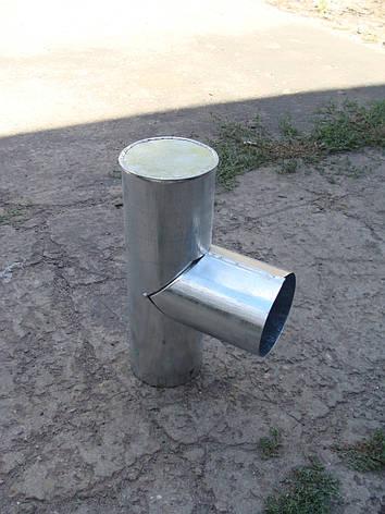 Тройник с капельником для дымохода оцинкованный, d 110 мм, фото 2