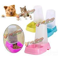 Кошка собака автоматического питания фидер распределитель двойную цель ПЭТ чашу воды