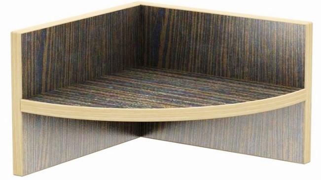 Полка консольная угловая Тиса Мебель