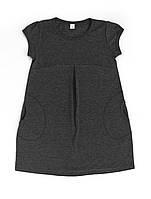 Платье 16-8 К/Р серое для девочки