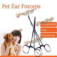Домашнее животное собака кошка пинцет пинцет уха волос съемника прямые вылеченные инструменты Щипцы красоты