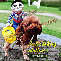 Собака собачки щенок кошка одежды любимчика всадники костюм ковбоя Жгут одеваются