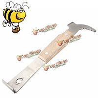 Пчела мед Улей скребок деревянные из нержавеющей стали пчеловодства мед распечатывания меда нож