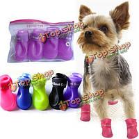 Нескользящая водонепроницаемый собак Pet дождь защитная резиновая обувь пинетки