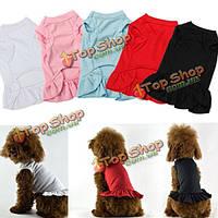ПЭТ щенок собака кошка юбка летняя рубашка платья одежда одежда костюмы