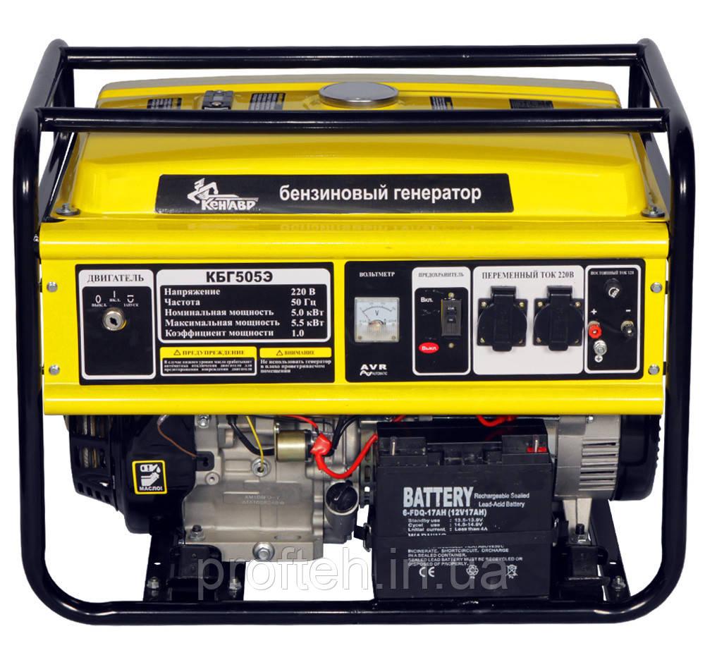 Генератор бензиновый Кентавр КБГ-505Е (5.0 кВт)