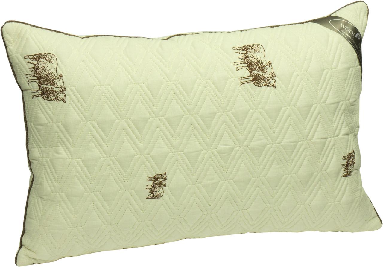 Подушка Руно  силиконовые  шарики 70х70 бязь  овечья шерсть (313SHEEP)