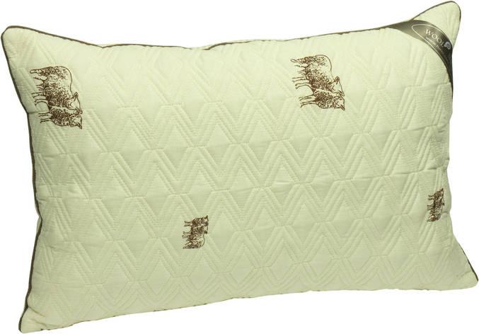 Подушка Руно  силиконовые  шарики 70х70 бязь  овечья шерсть (313SHEEP), фото 2