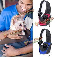 Л любимчика кота собаки несущей сетки слинг рюкзак путешествия сумка наплечная сумка