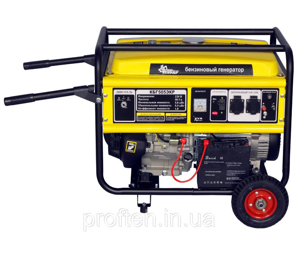 Генератор бензиновый Кентавр КБГ-505экр (5.0 кВт) Бесплатная доставка