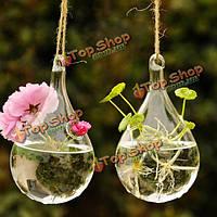 Капля воды форма висит стеклянная цветочная ваза домашнего декора партии