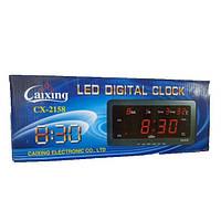 Электронные часы Caixing CX-2158 с термометром, могут работать от прикуривателя