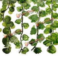 12шт 7.5 футов искусственного плюща листьев венок растений