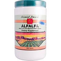 Альфальфа, Alfalfa Leaf Tablets, Bernard Jensen's, 550 мг, 1000 табл.