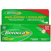 Berocca, Витаминно-минеральная добавка, со вкусом ягодной смеси, 10 шипучих таблеток