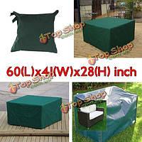 152x104x71см сад уличная мебель водонепроницаемого дышащего пылезащитный чехол стол приют
