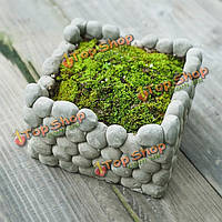 Камня квадрата breathab земляной цветочный горшок сочные растения цветочный горшок дома сад ландшафтный декор