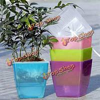 Горшки для цветов пластиковые гидропоники воды хранения горшок садовые дома двор украшения